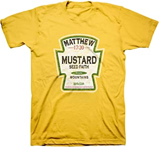 Men's Mustard Seed - Faith Moves Mountains T-Shirt - Daisy -