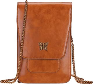 Crossbody Bags Cell Phone Purse Small Shoulder Bag Leather Travel Wallet for Women with Chain Strap