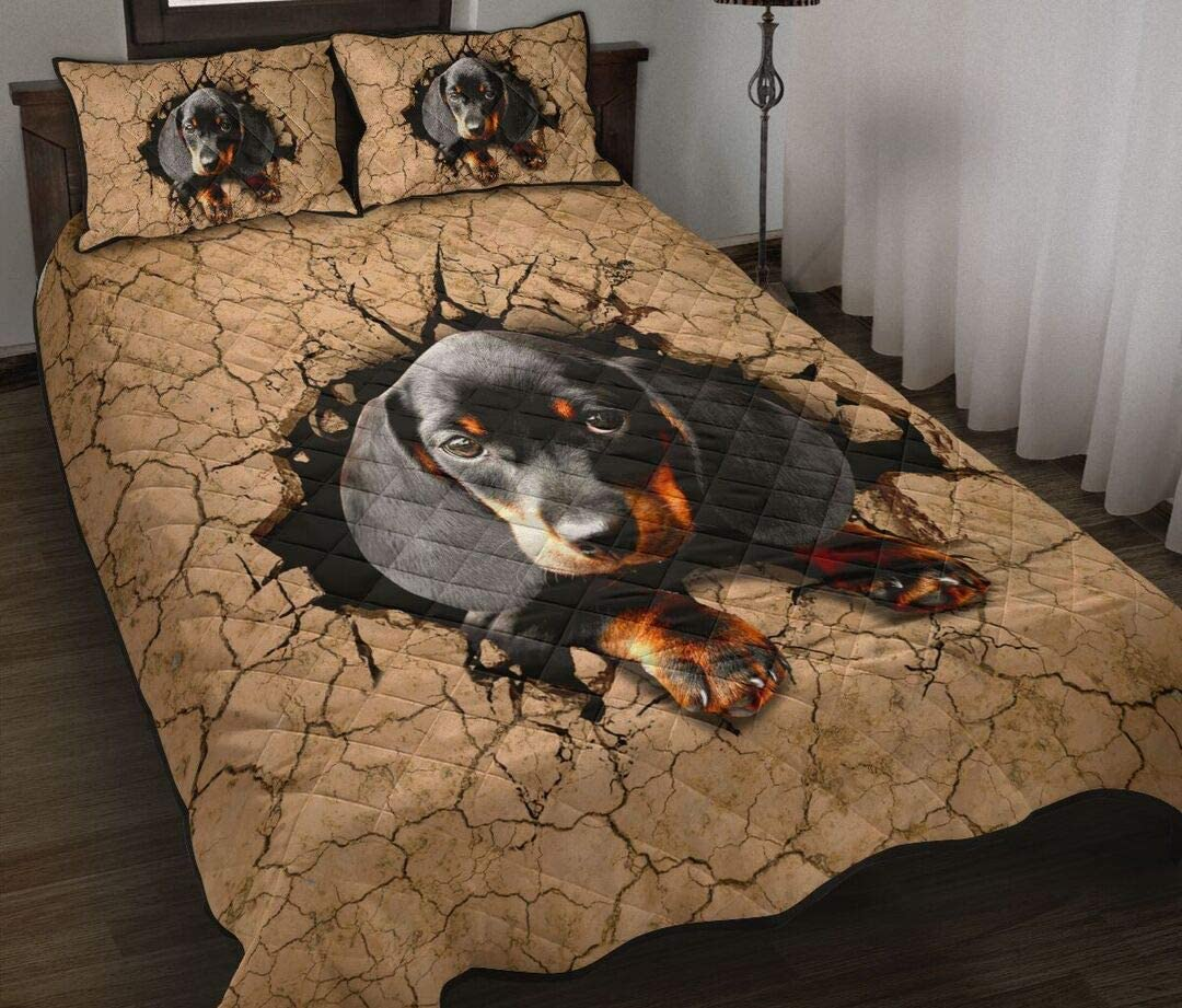 Personalized Dachshund Nune Cracked Outlet sale feature Soil Quilt Mom Dad H Wife Same day shipping to