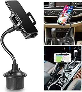 Zylee Cup Phone Holder for Car, Portable Cup Phone Holder Car Mount with Universal Adjustable Gooseneck for iPhone Samsung Galaxy Google Pixel and Almost All Cell Phones