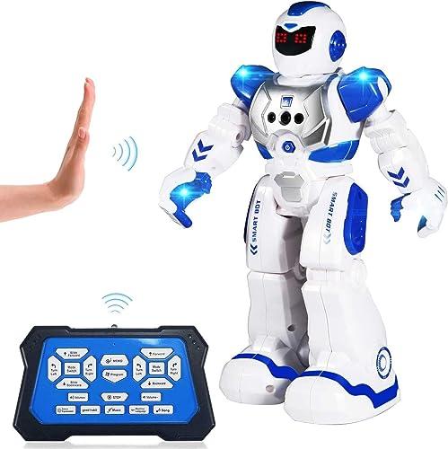 ETEPON Jouet RC Robot Radiocommandé, Intelligent Programmable à Détection Gestuelle Robot Infrarouge pour Enfant