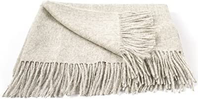 LinenMe Bella Throw Silver 53x79 Inch, 53 x 79,