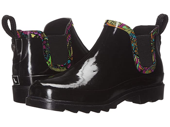 Sakroots  Rhyme (Black/Rainbow Spirit Desert) Womens Pull-on Boots