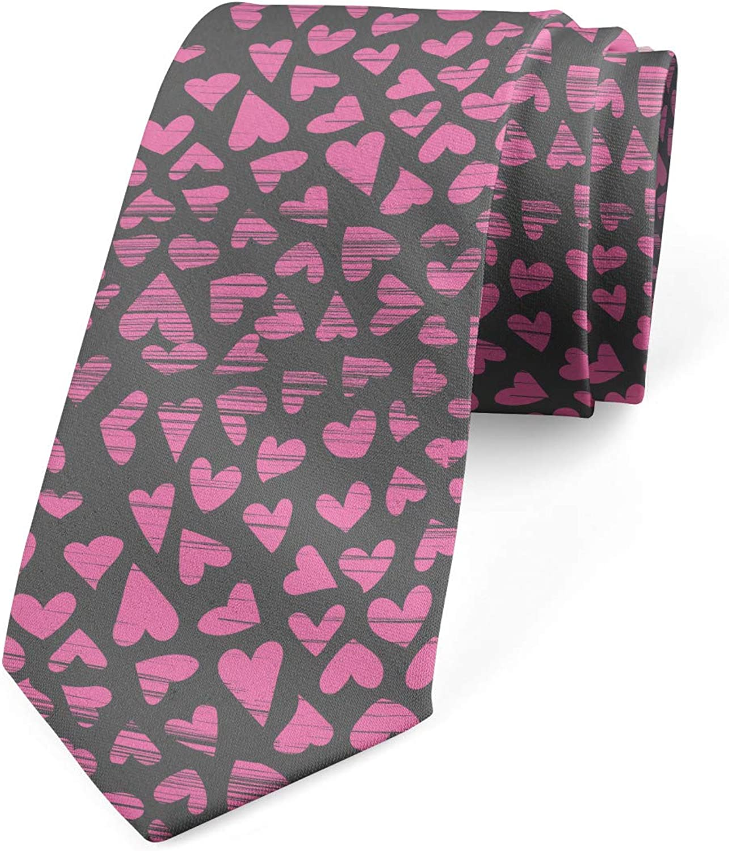 Lunarable Necktie, Heart Grunge, Dress Tie, 3.7