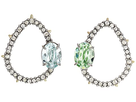 Alexis Bittar Crystal Encrusted Mismatch Post Earrings