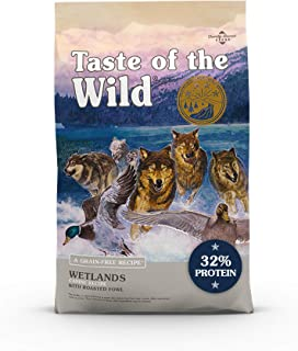 Taste of The Wild Grain Free Premium High Protein Dry Dog Food Wetlands with Roasted Duck 12.7kg