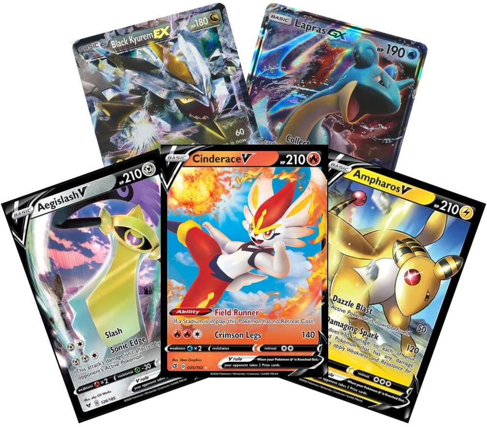 Amazon.com: Pokemon TCG - 5 Card EX / GX / Mega EX Lot.: Toys & Games