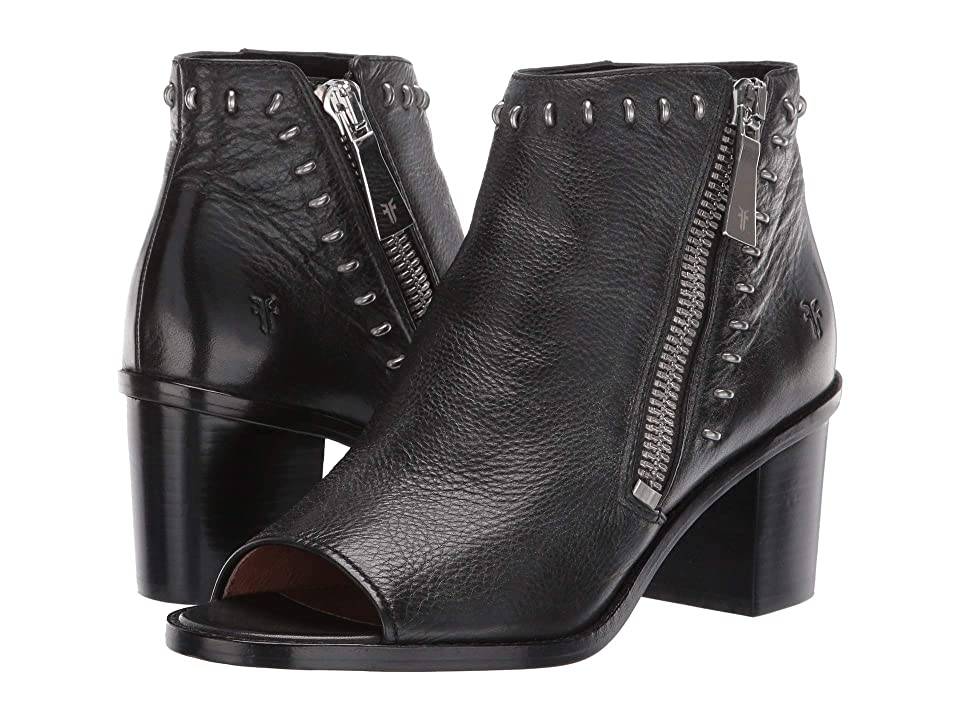 Frye Brielle Rebel Zip Bootie (Black) Women