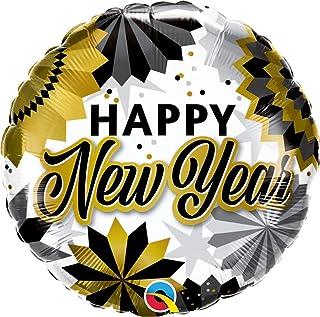 بالون فويل من كوالتكس، مقاس 45.72 سم، أسود وذهبي لمعجبي السنة الجديدة، متعدد الألوان