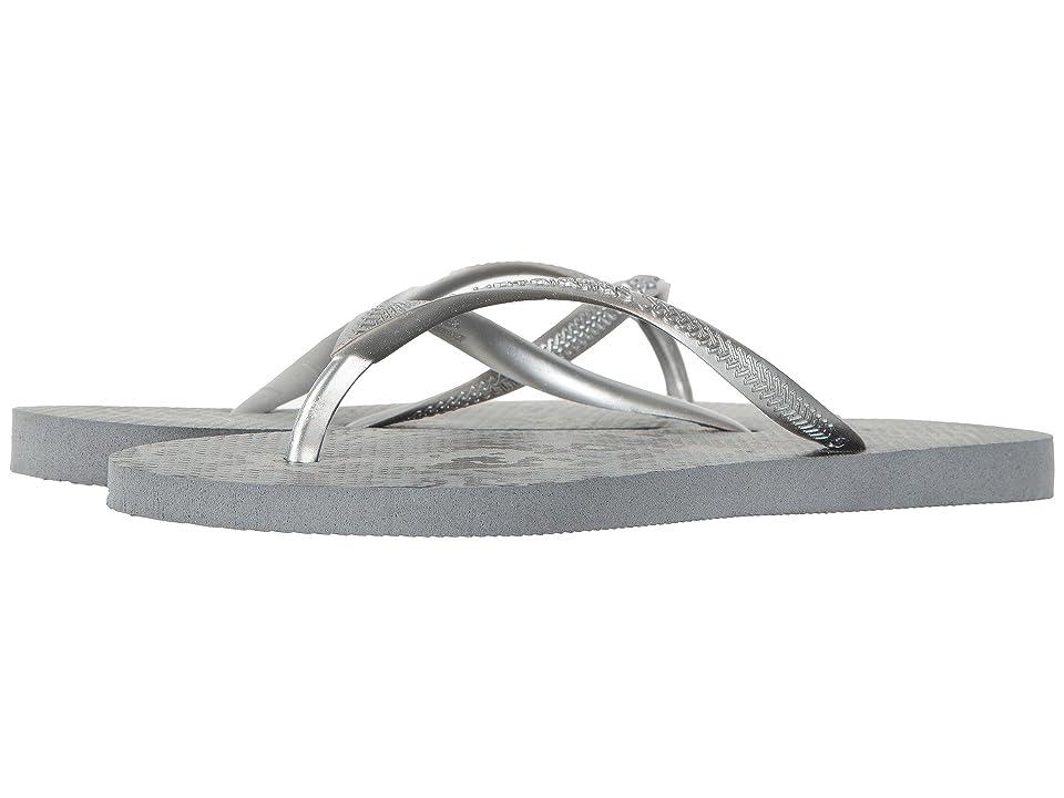 Havaianas Slim Animals Flip Flops (Grey/Silver) Women