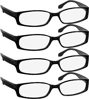 Reading Glasses for Women and Men - Best Designer 4 Pack...