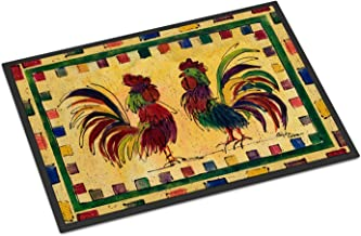 "Caroline's Treasures 8062-JMAT Rooster Indoor or Outdoor Doormat, 24"" x 36"", Multicolor"