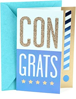 Hallmark Congratulations Card or Graduation Card (Congrats!, Blank Inside)