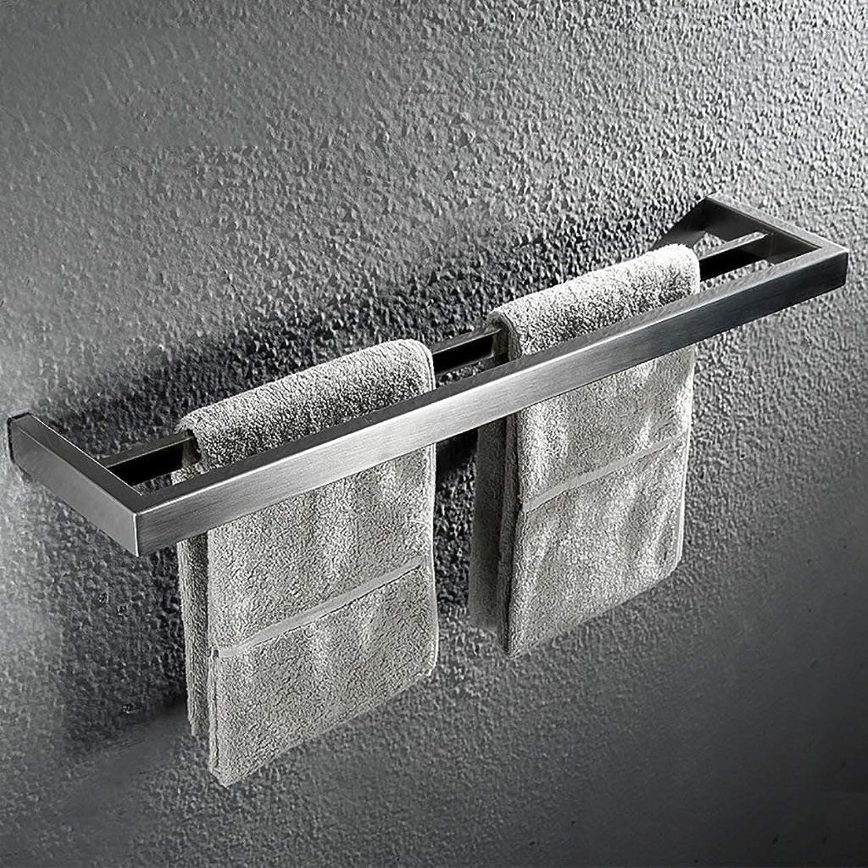 Towel Rack Towel Rack 304 Stainless Steel Towel bar Bathroom Towel Rail Bathroom Pendant Double Rod Bathroom Towel Shelf