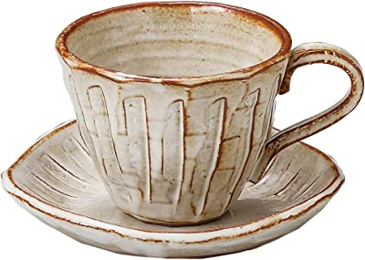 山下工芸 カップ_ソーサー 白 φ9.5×7.3cm(200cc) 白均窯十草コーヒー碗と受皿 15050900
