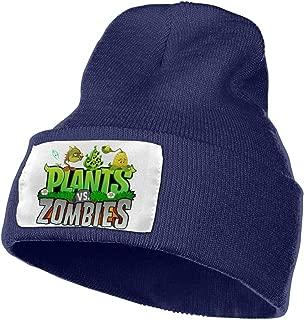 SmallHan Mens & Womens Plants Vs. Zombies Skull Beanie Hats Winter Knitted Caps Soft Warm Ski Hat Black