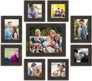 Art Street Onmium Photo Frame Set of 9 Individual Wall Photo Frames Copper ||Size - 5X5, 5X7, 8X10 Inches||