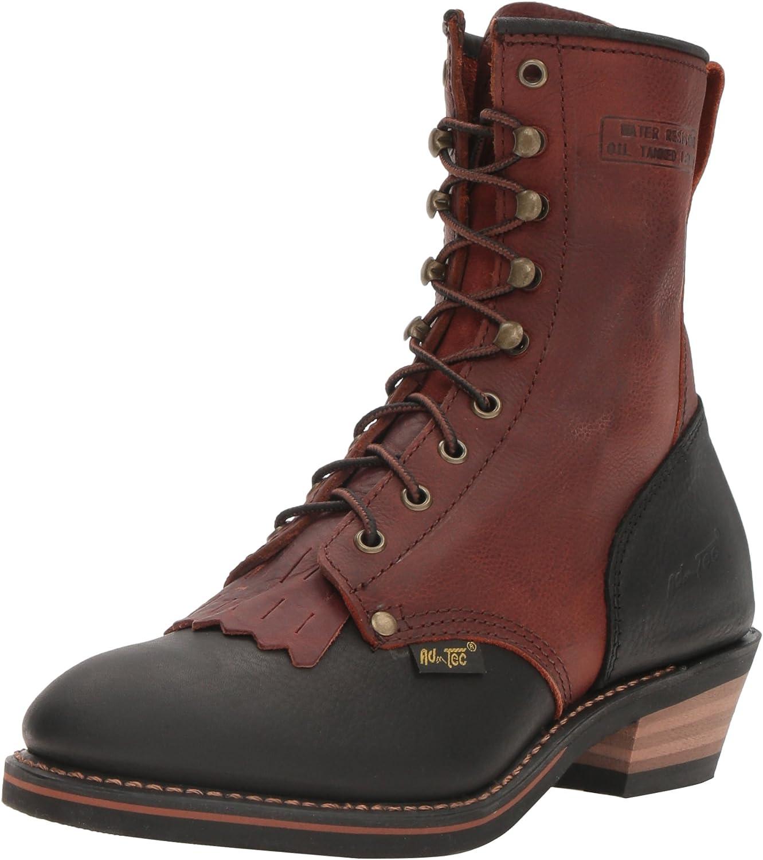 Adtec 1179 9  Packer Chestnut Black Work Boot