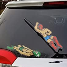 WiperTags Luchador Wrestling Cover and Decal for Rear Vehicle Wipers