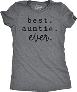 Womens Best Auntie Ever Tshirt Cute Adorable Family Tee for Ladies