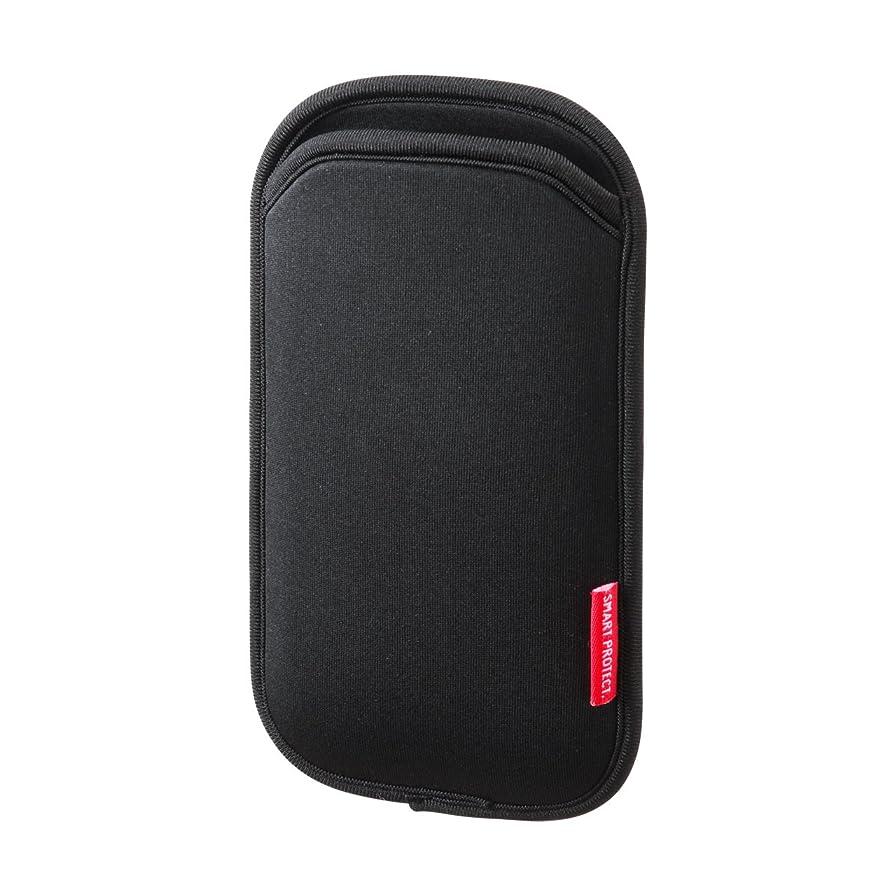 カヌー流過度にSANWA SUPPLY マルチスマートフォンケース(5インチ用) ブラック PDA-SPC9BK