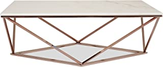 white and rose gold coffee table