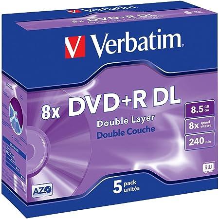 Verbatim Dvd R Double Layer 8 5gb 8x Matt Silver Computer Zubehör