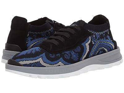 Etro Knit Paisley Sneaker (Navy) Men