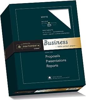 Southworth 100% Cotton Business Paper, White, 24 Pounds, 500 Count (14C)