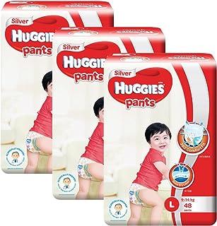Huggies Silver Large Pants, Carton, 48ct (Pack of 3)