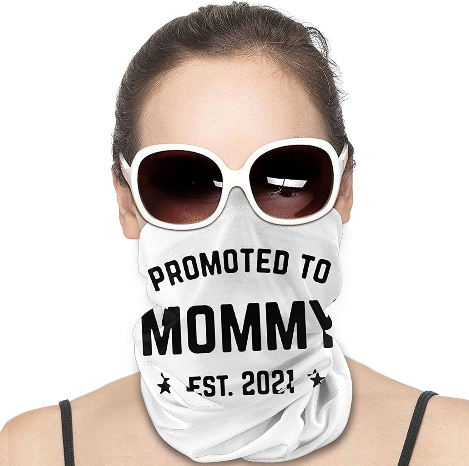 Soon to Be Mommy Est 2021 Round Neck Gaiter Bandnas Face Cover Uv Protection Prevent bask in Ice Scarf Headbands Perfect for Motorcycle Cycling Running Festival Raves Outdoors