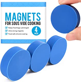 [4 pack] Sous Vide Magnets to Keep Bags Submerged and In Place - Sous Vide Accessories to Stop Floating Bags and Undercook...