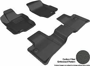 3D MAXpider Complete Set Custom Fit All-Weather Floor Mat for Select Mercedes-Benz ML-Class Models - Kagu Rubber (Black)