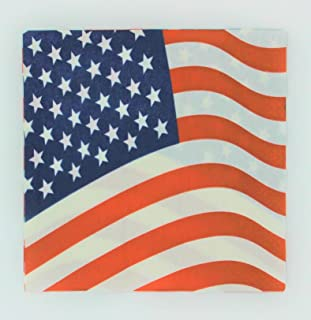 (20) American Flag Patriotic Paper Napkins for Luncheons, Picnics & Parties