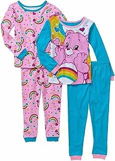 Care Bears Girl 4 PC Short Sleeve Tight Fit Cotton Pajama Set