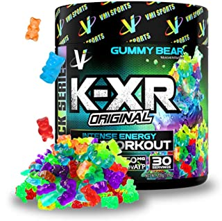 Sponsored Ad - VMI Sports K-XR Pre-Workout Supplement for Intense Energy, Gummy Bear, Muscle Builder for Extreme Pumps, En...