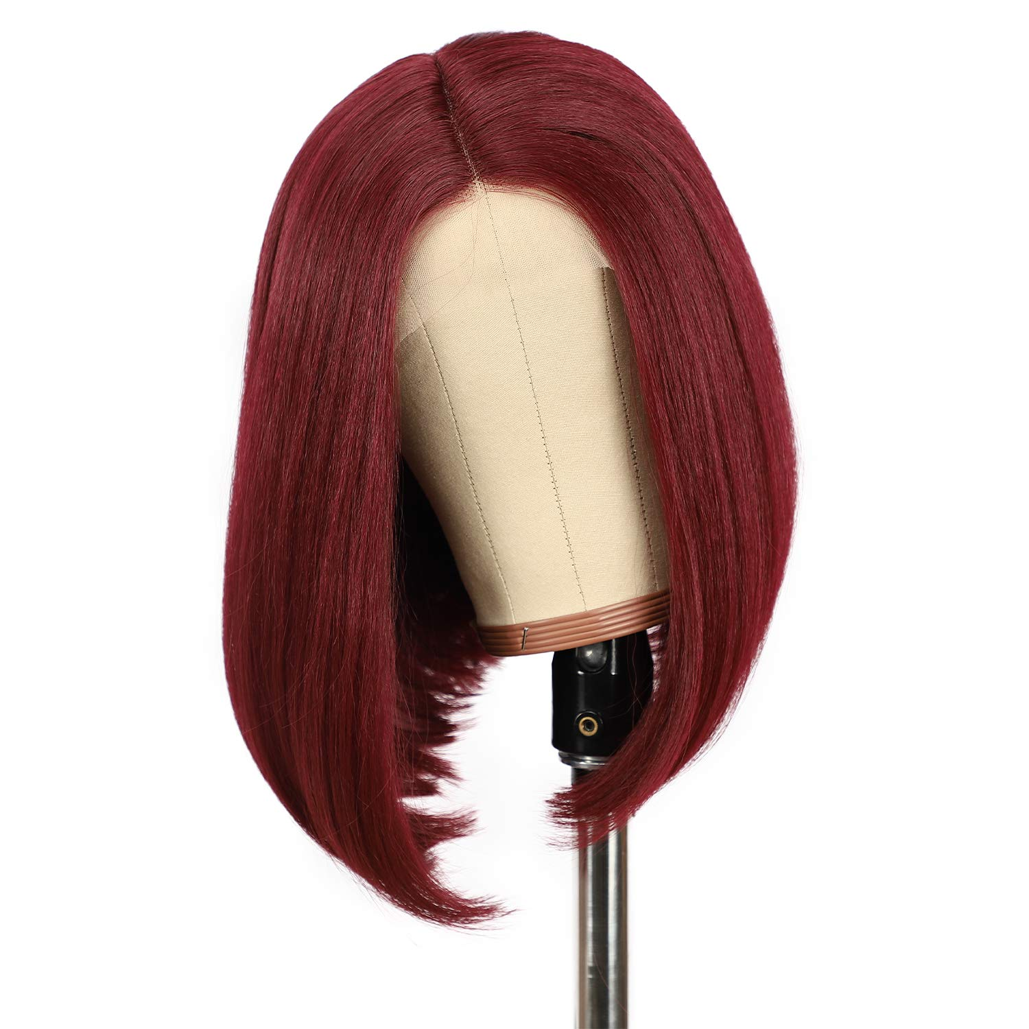 Direct sale of manufacturer BABEHERS Burgundy Bob Wig Deep Super beauty product restock quality top! T-Part Lace Wigs 14 Front Inches