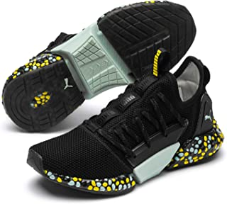 PUMA Women's Hybrid Rocket Runner WN's Sneaker, Black-fair Aqua-Blazing Yellow