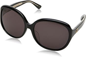 Gucci Black Round Sunglasses (GG0080SK)