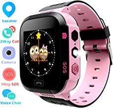 Kids GPS Tracker Watch for Boys Girls - Smart Wrist Watch with GPS Location SOS Digital Watch Camera Flashlight Games for Children Compatible with iPhone/Android Kids Smartwatch