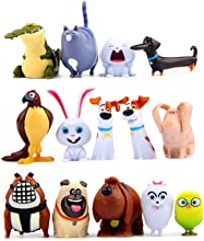 14 Pcs Cartoon Puppy Pets Movie Toy Figurines Mini Animal Figure Toys for Kids Cake Toppers Cupcake Decorations Party Favor