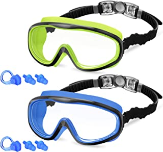 KNGUVTH Kids Swim Goggles, Pack of 2 No Leaking Swimming...