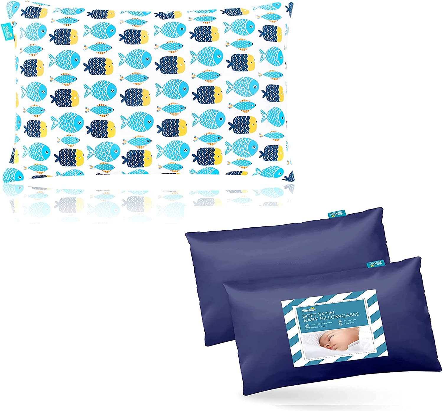 Max 89% OFF Kid Toddler Pillow Our shop most popular for Sleeping with Satin Print Fish Toddle