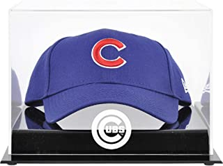 Chicago Cubs Acrylic Cap Logo Display Case - Baseball Hat Free Standing Display Cases