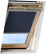 Victoria M. Store Obscurcissant pour toit, compatible avec Velux GGL 304 - Store enroulant occultant avec revêtement thermique - bleu foncé