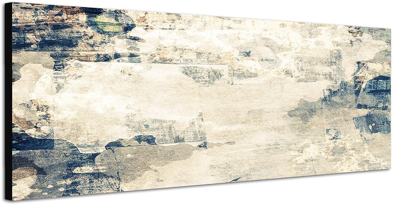 Texture grau blau braun beige beige beige 150x50cm Panorama Wandbild auf Leinwand und Keilrahmen fertig zum aufhängen - Unsere Bilder auf Leinwand Besteechen durch ihre ungewöhnlichen Formate und den extrem detaillierten Druck aus bis zu 100 Megapixel hoch  9005d7