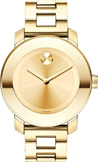 Women's BOLD Iconic Metal Yellow Gold Watch with a Flat...