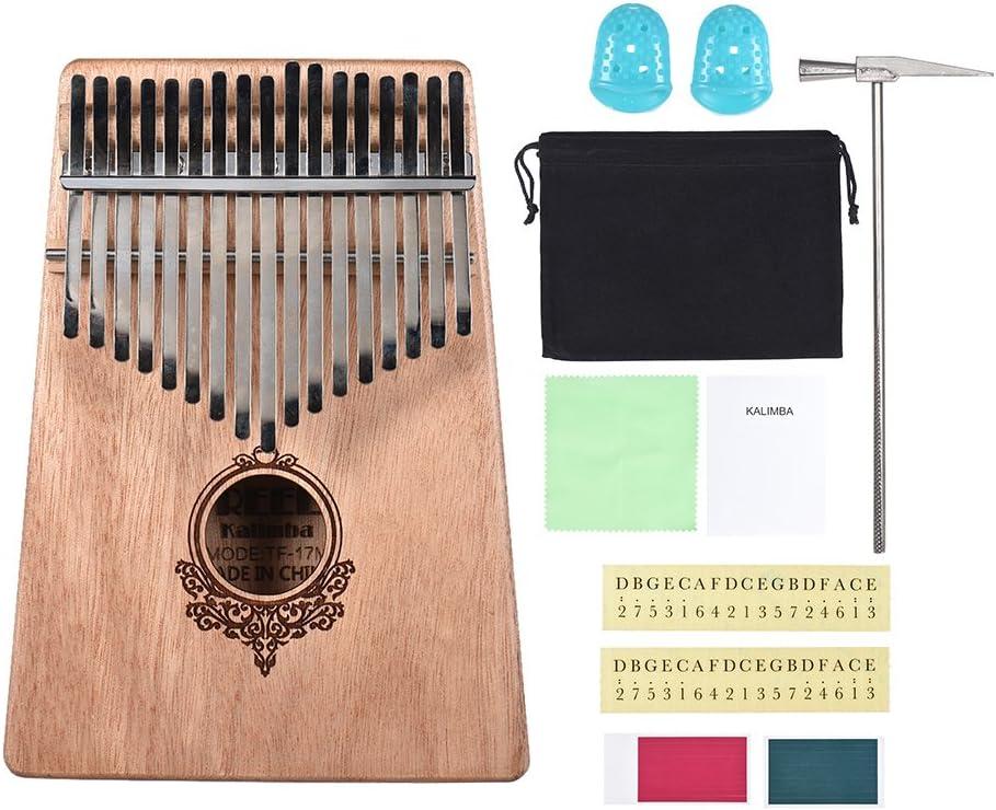 Muslady 17-key Kalimba Thumb SALENEW very popular! Piano Wood Finally popular brand with Carr Mahogany Mbira