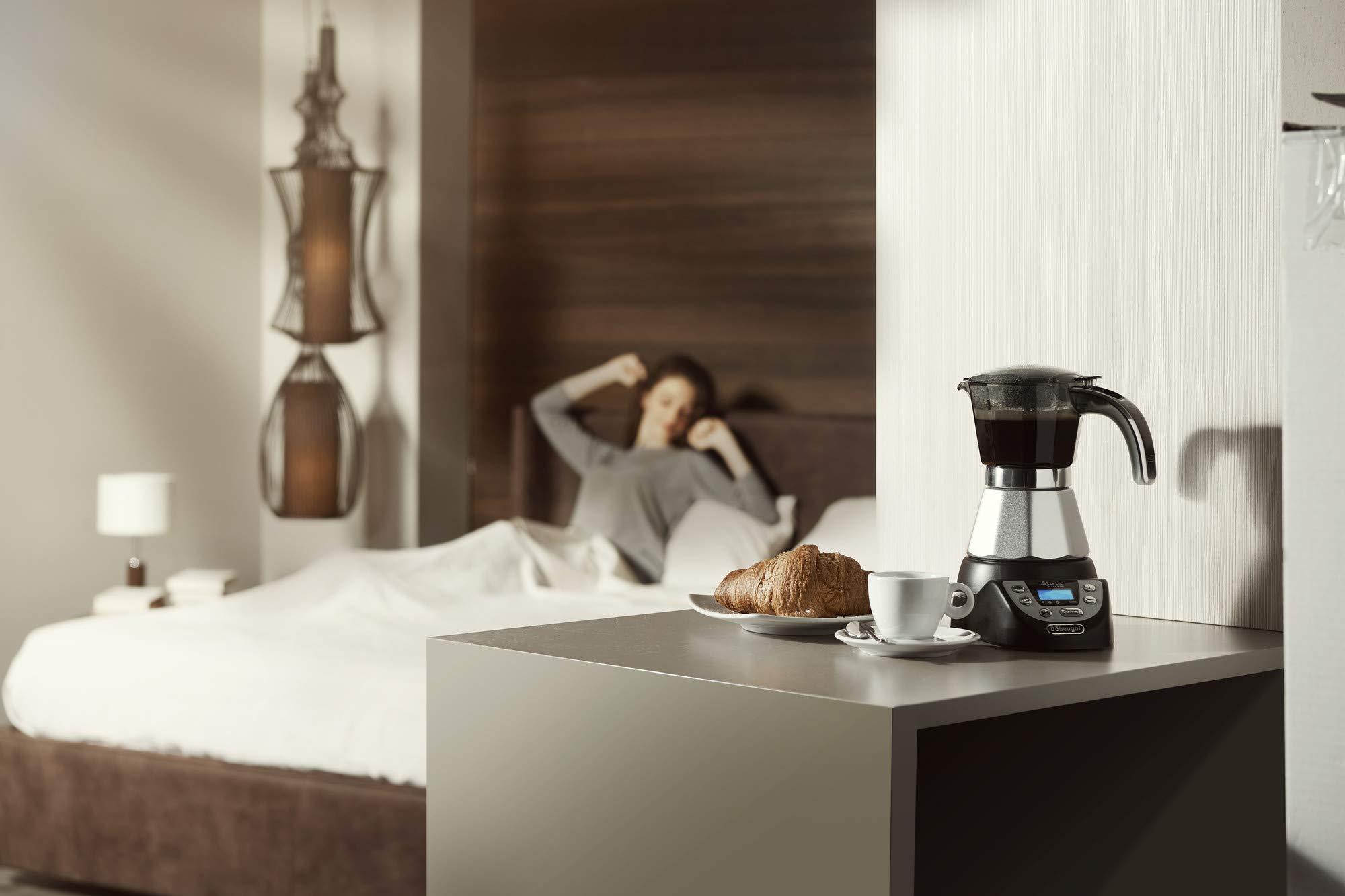 DeLonghi EMKP42.B Alicia PLUS - Cafetera Moka Eléctrica, 450 W, 2 ...
