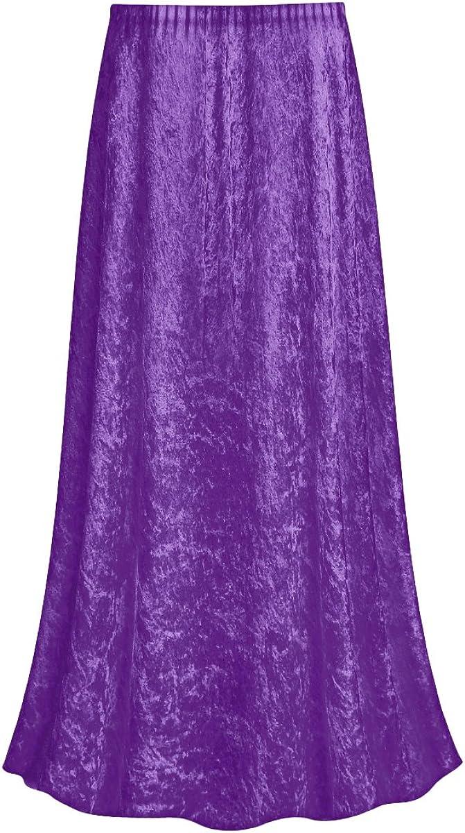 Sanctuarie Designs Purple Crush Max 75% OFF Velvet Size Plus Super popular specialty store Supersize Skirt